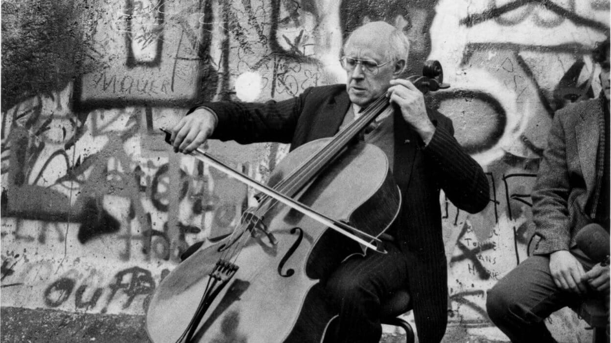 Rostropovitch, violoncelle, chute du mur de Berlin