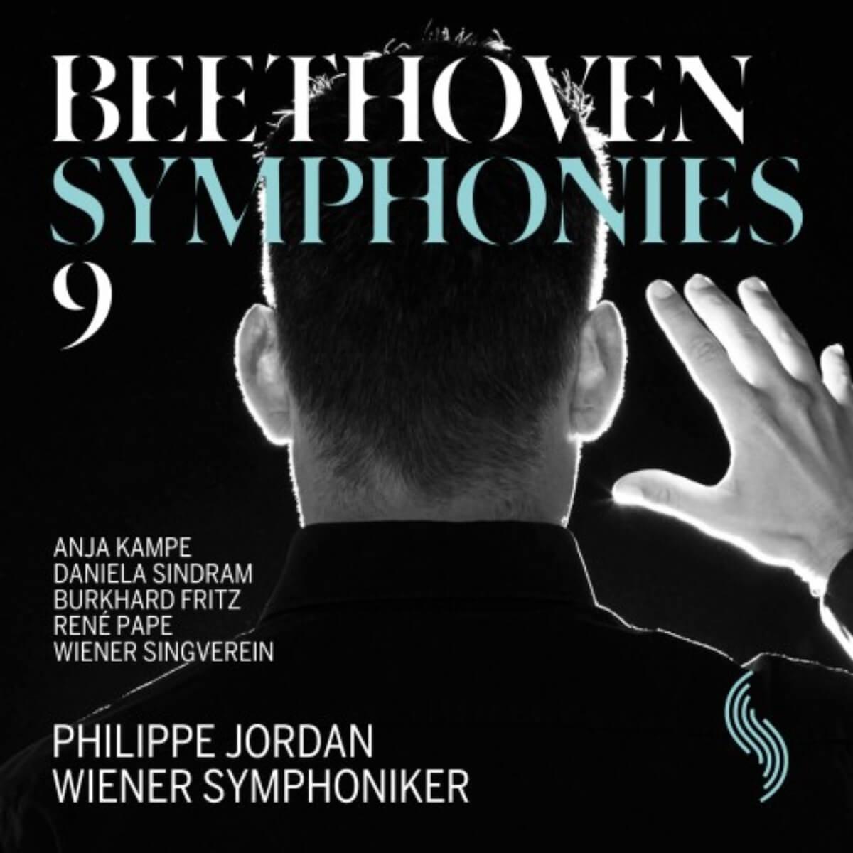 couverture du disque du Wiener Symphoniker, Philippe Jordan de dos, Beethoven 9
