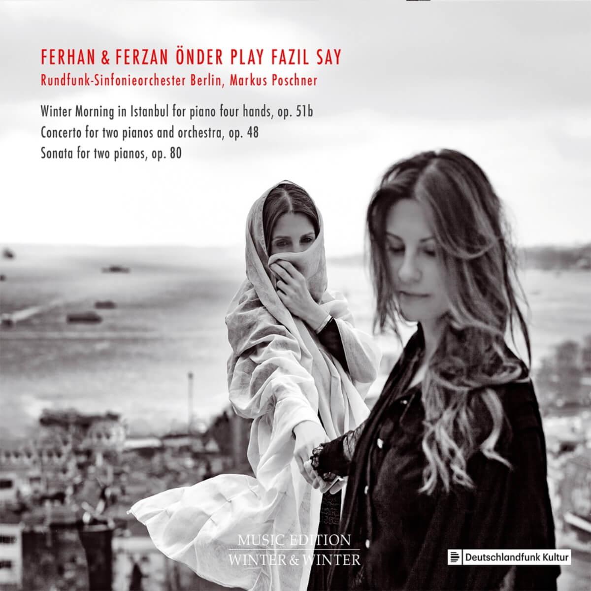 couverture du disque des jumelles pianistes Önder : Önder play Fazil Say