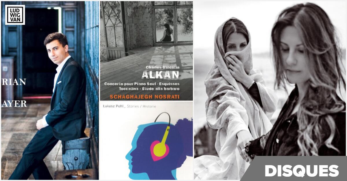 montage des couvertures des disques de la semaine du 6 janvier 2020