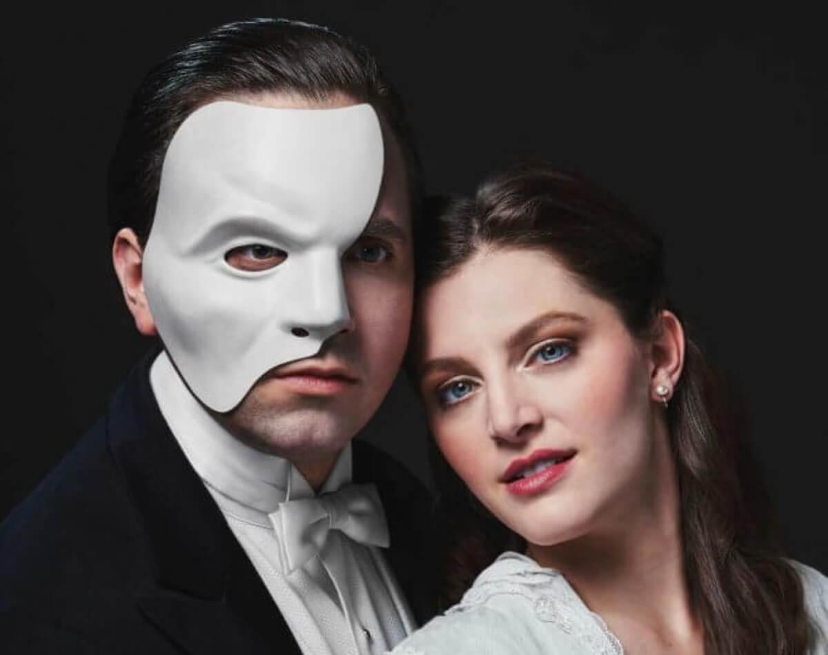 Hugo Laporte et Anne-Marine Suire en tant que le Fantôme et Christine
