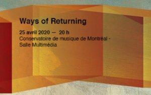 Quatuor Bozzini Ways of Returning visuel