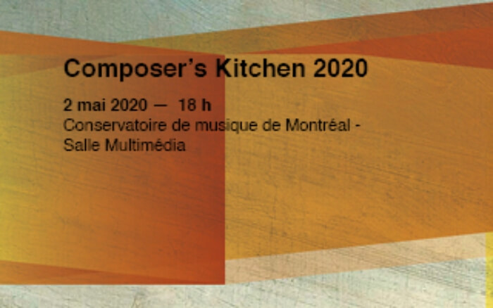 visuel du Composer's Kitchen du Quatuor Bozzini