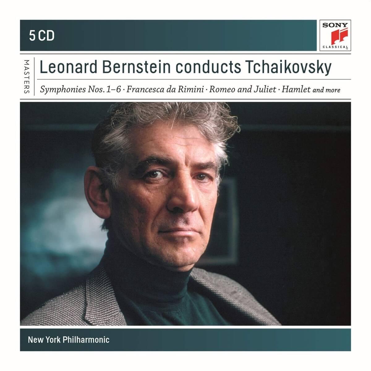 couverture d'un album Sony de symphonies de Tchaikovski avec Bernstein