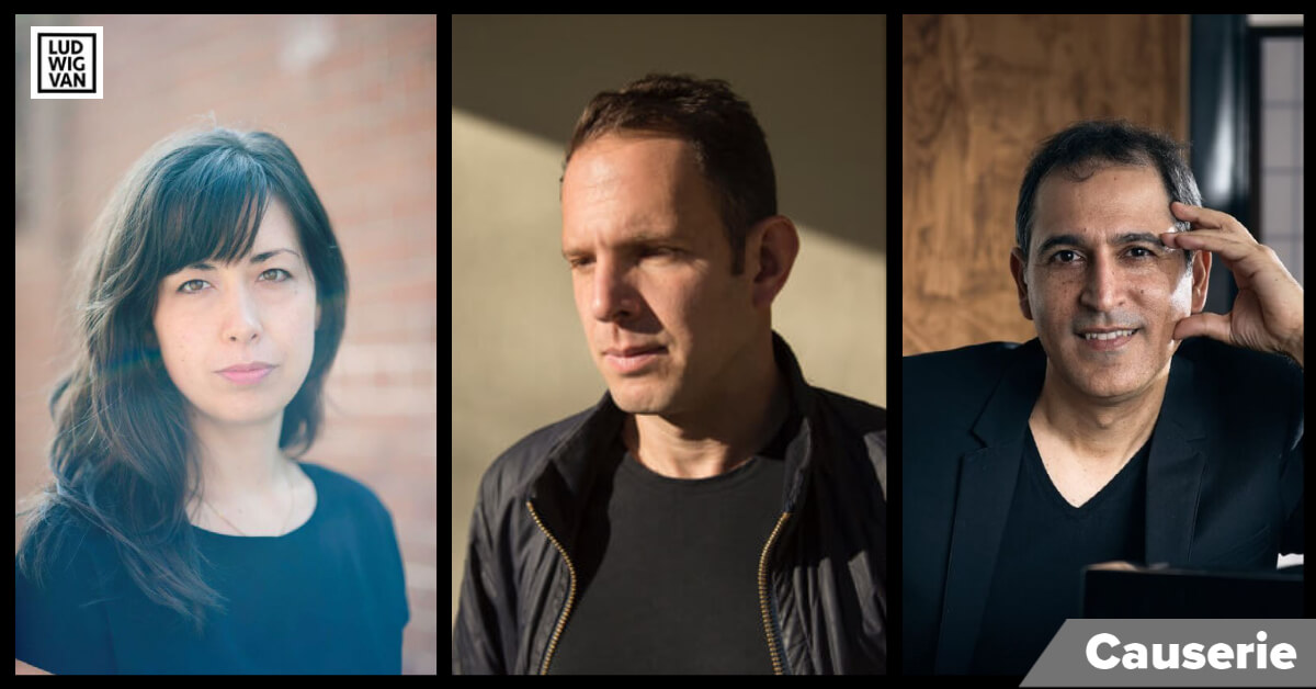 Keiko Devaux, Yotam Haber et Yitzhak Yehid, lauréats des Priz Azrieli de musique 2020. (Crédits photos: Caroline Desilets, Brian Tarnowski & James Goss)