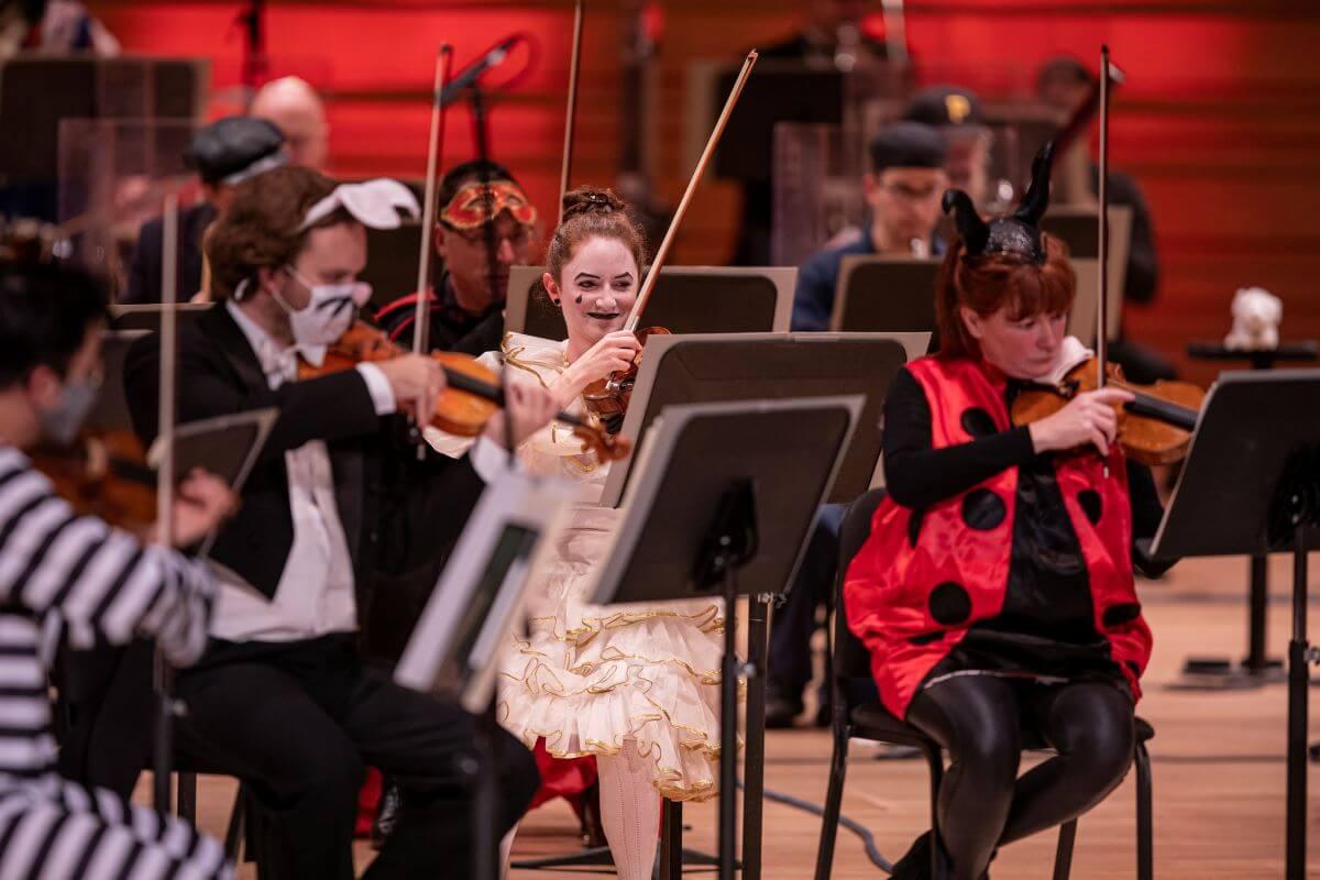 Le concert d'Halloween 2020 de l'OSM a été enregistré à la Maison symphonique sous la direction de Jacques Lacombe. (Photo: Antoine Saito)