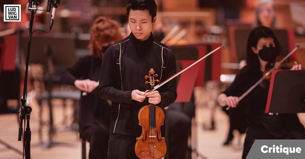 Kerson Leong, soliste invité de l'OSM pour ce retour devant public, le 7 avril 2021. (Photo: Antoine Saito