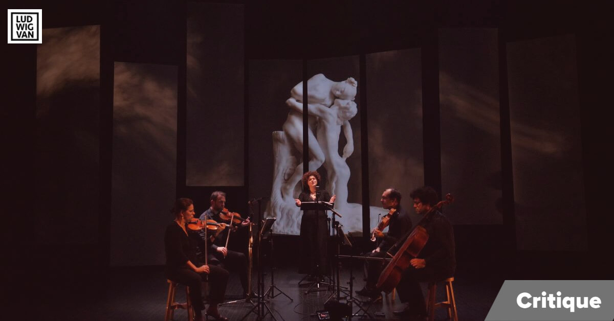 Stéphanie Pothier et le Quatuor Molinari dans le concert Camille Claudel: dans l'ombre du géant. (Photo: courtoisie)