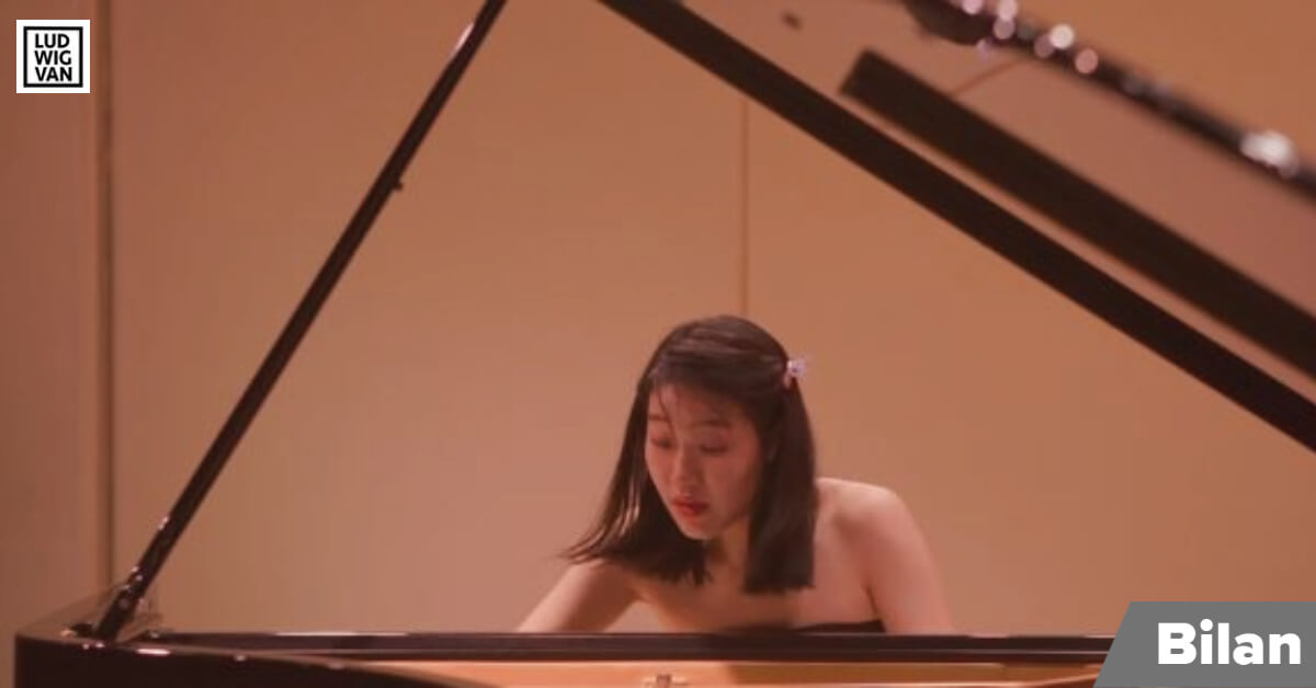Ying Li, concurrente de la Chine au CMIM, Piano 2021, le 29 avril 2021. (Photo: capture d'écran de la webdiffusion)