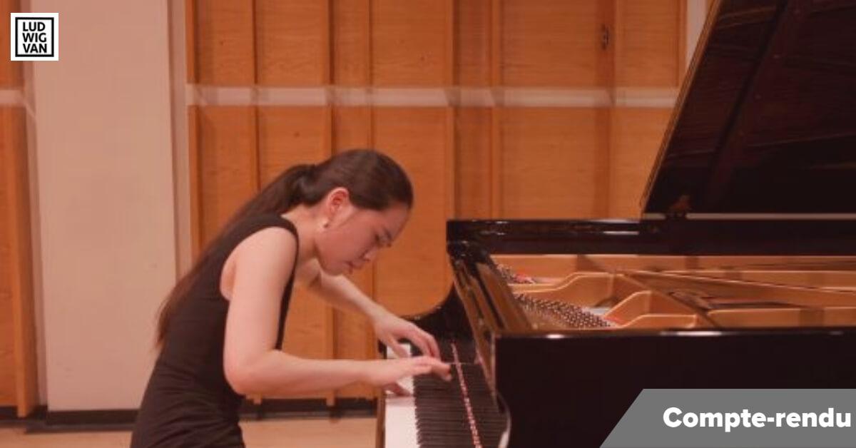 La pianiste sud-coréenne Chaeyoung Park en finale du Concours musical international de Montréal, 2021. (Photo: capture d'écran de la webdiffusion)