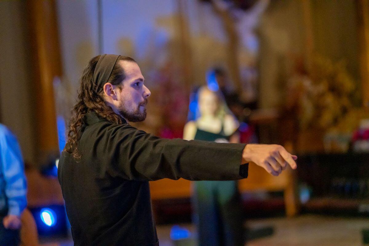 Pascal G. Berardi, chef et fondateur de Temps fort, à l'église du Très-Saint-nom-de-Jésus, juin 2021. (Photo; Elias Touil)