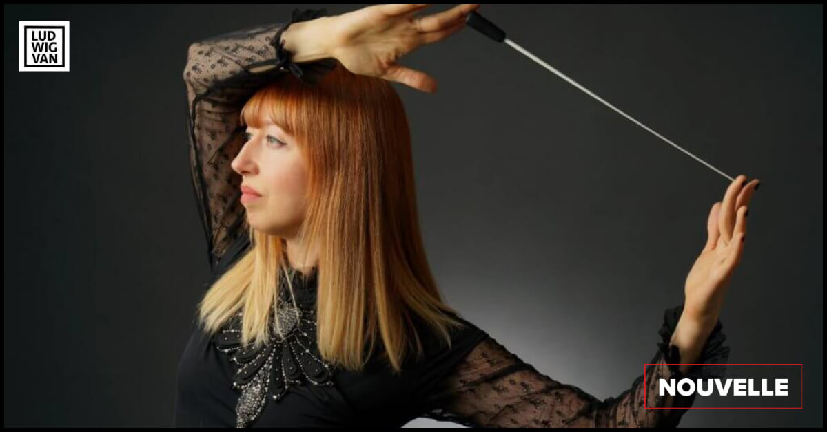 Mélanie Léonard, cheffe d'orchestre. (Photo : Westmount Photography, Robert Provencher)
