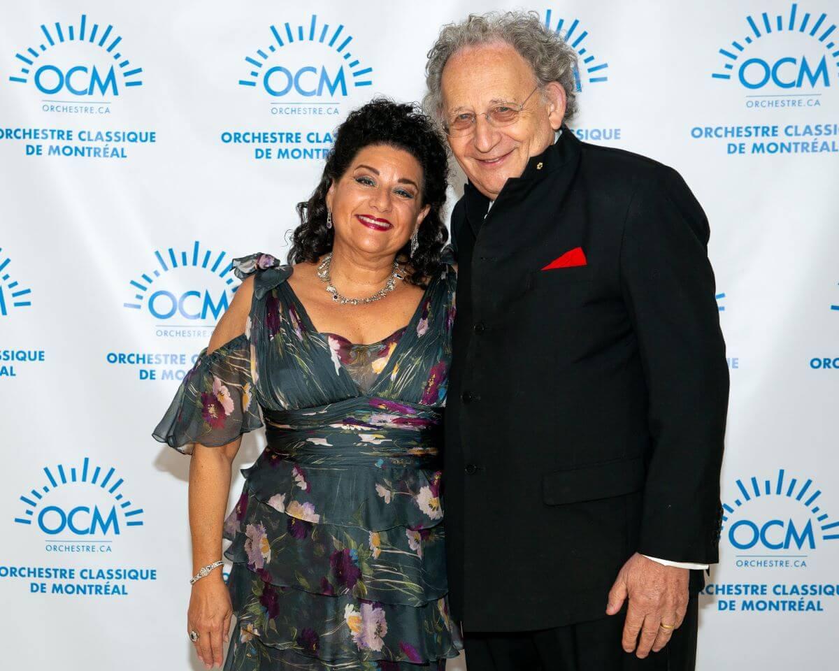 Sharon Azrieli et Boris Brott. (Photo: courtoisie de l'OCM)