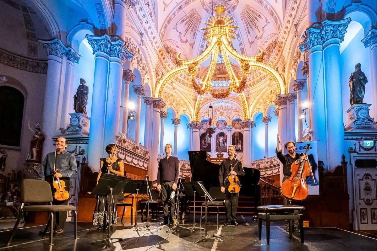 Le Quatuor Saint-Germain au concert Éclats de romantisme, église Sainte-Cécile du Bic. (Photo: Jean-Pierre Rousseau)