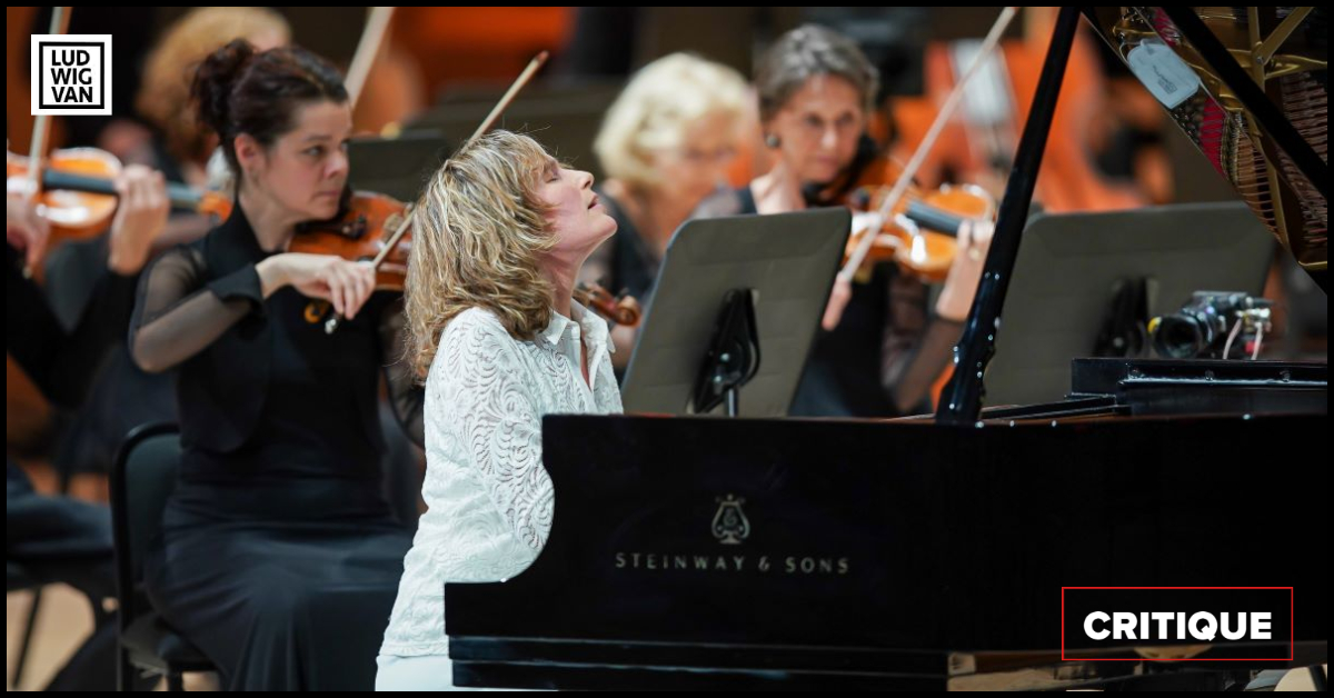 Hélène Grimaud était la soliste invitée de l'Orchestre Métropolitain, le 30 septembre 2021, à la Maison symphonique. (Photo: Antoine Saito)