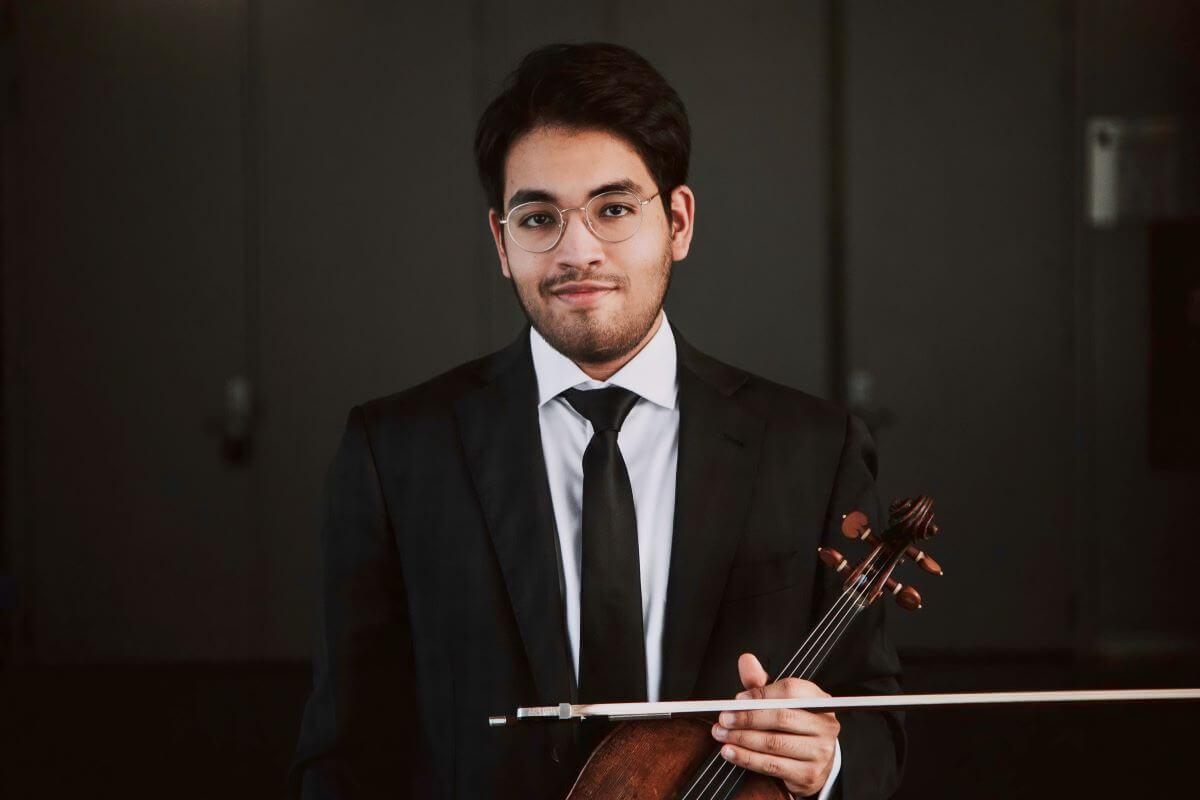 Sebastian Gonzalez Morela, altiste. (Photo: Antoine Duguay)