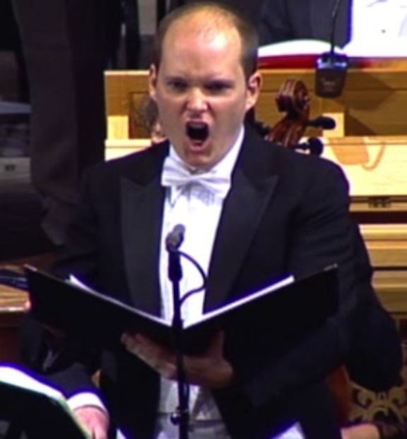 Toronto-based tenor Zach Finkelstein sings Messiah at Trinity Church, Wall Street in New York City on Dec. 9.