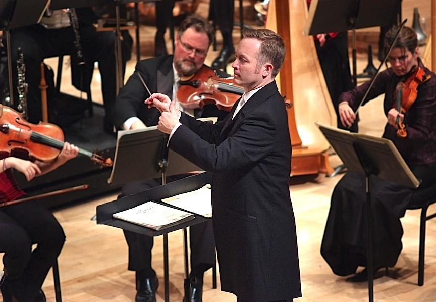 Simon Capet conducting the now-defunct Toronto Philharmonia last season.