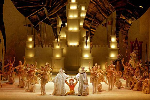 Kenneth Macmillan's staging of Benjamin Britten's ballet the Prince of the Pagodas for the Royal Ballet.