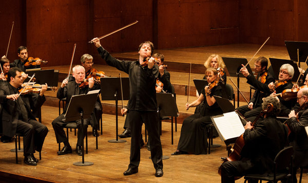 Violinist Joshua Bell is now leader of the Academy of St Martin-in-the-Fields.