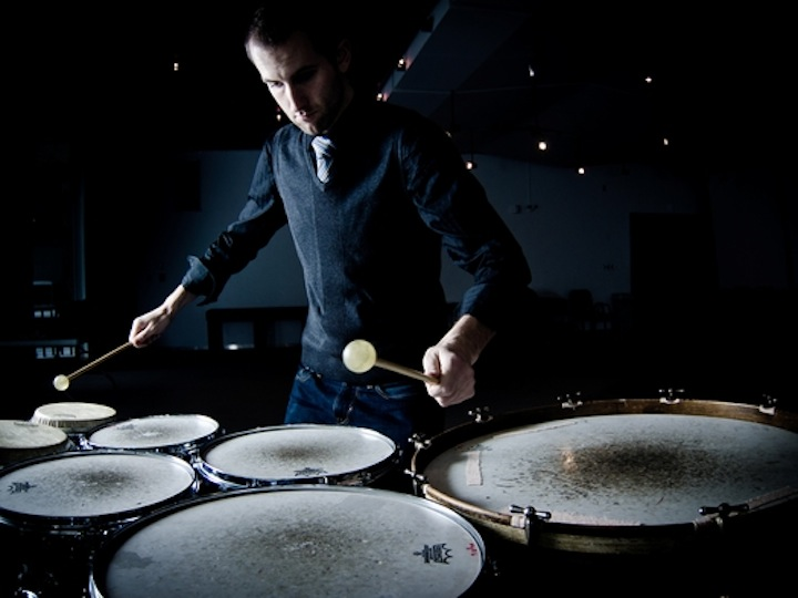 Montreal-based percussionist Ben Duinker joins Toronto Dan Morphy at Gallery 345 on Tuesday.