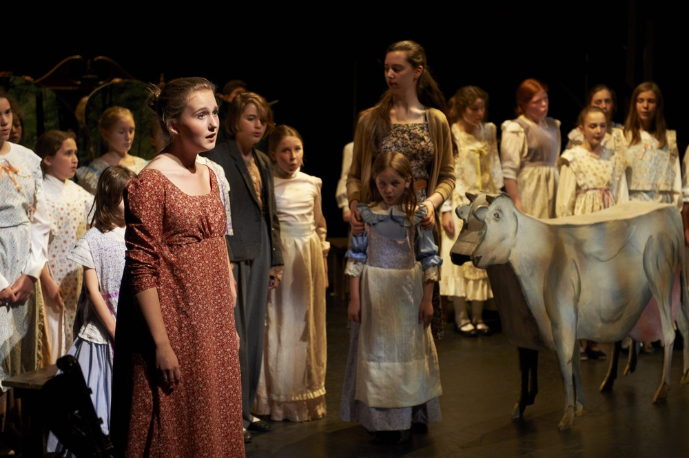 The Canadian Children's Opera Company reprises Errol Gay charming opera Laura's Cow: The Legend of Laura Secord at the Enwave Theatre later this week (Michael Cooper photo).
