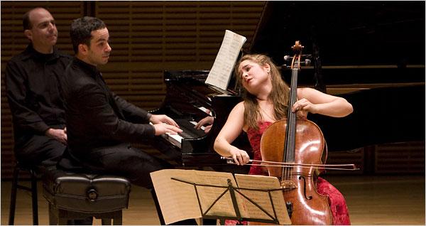 Inon Barnatan and Alisa Weilerstein (New York Times photo).