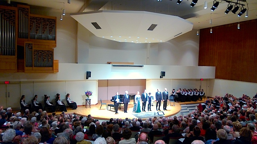 The Aldeburgh Connection, with the young singers of the Canadian Children's Opera Company at Walter Hall on Sunday afternoon (John Terauds phone photo).