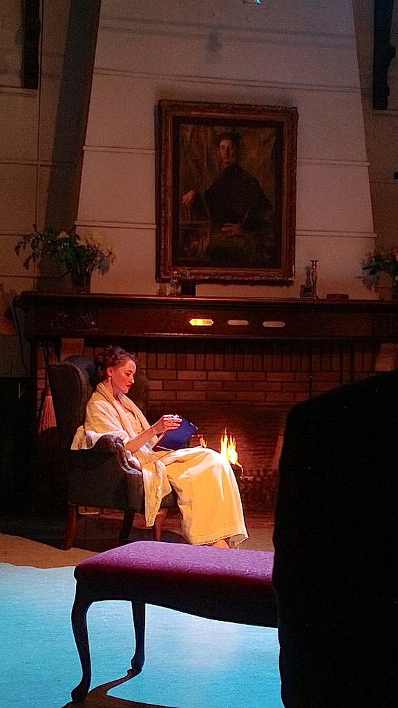 Soprano Leigh-Ann Allen as Millie Theale in The Wings of the Dove at Heliconian Hall on Tuesday night (John Terauds phone photo).