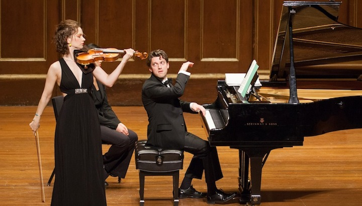 Hilary Hahn and Cory Smythe (Robert Torres photo).