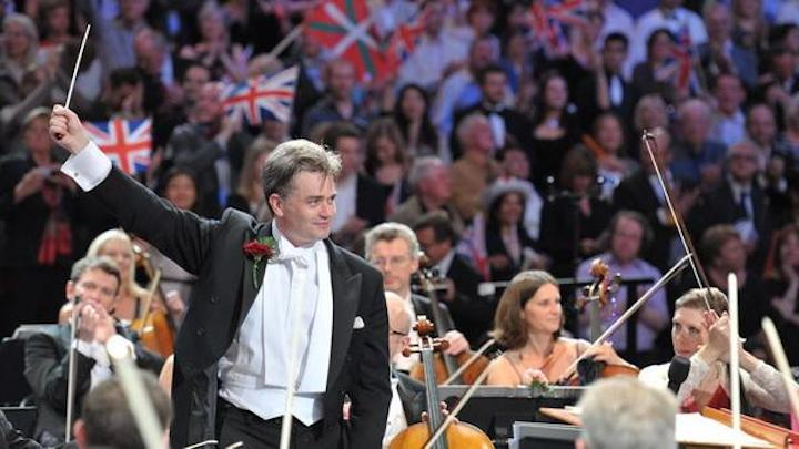 Edward gardner conducted the Last Night of the Proms at Royal Albert Hall two years ago (Chris Christodoulou/BBC photo).