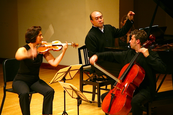 The Gryphon Trio celebrates their 20th anniversary as well as receiving the $30,000 Walter Carsen Prize with a recital for Music Toronto on Thursday (Kazuk Ishikura photo).