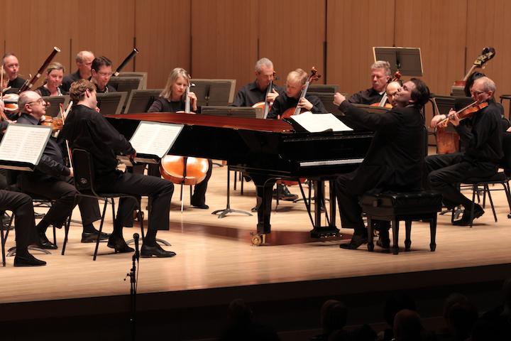 Ignat Solzhenitsyn conductrs the Toronto Symphony at Roy Thomson Hall on Saturday evening (Josh Clavir photo).