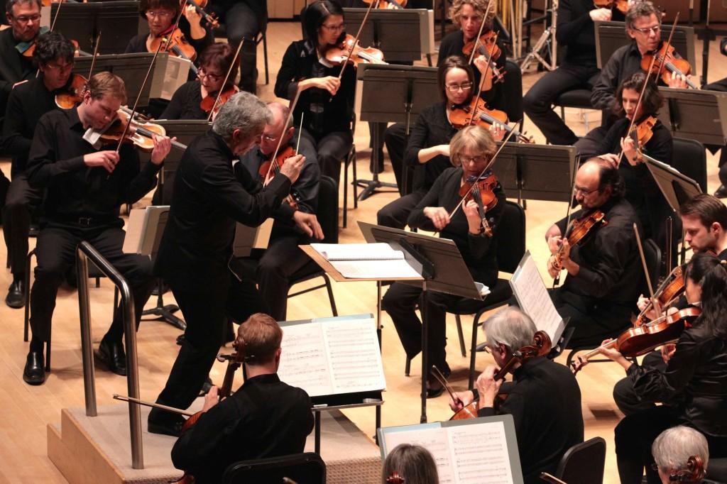 "Music Director Peter Oundjian conducting ""Dr. Atomic"" by John Adams, photo by Josh Clavir"