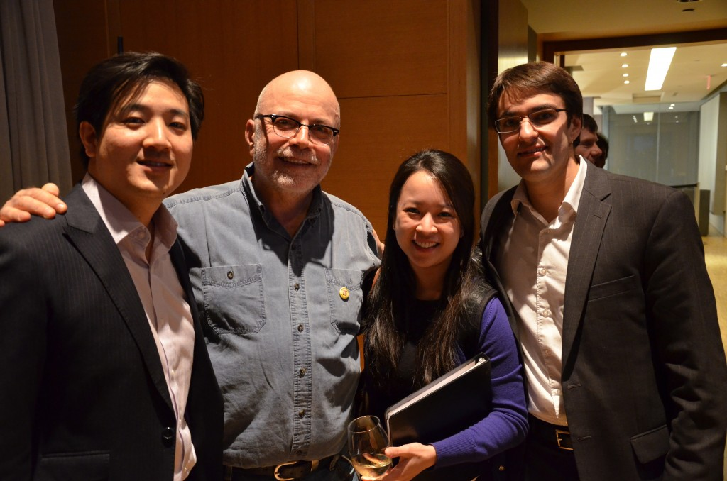 from L-R it's Adrian Fung (cello), Christos Hatzis, Valerie Li (violin), and Timothy Kantor (violin)