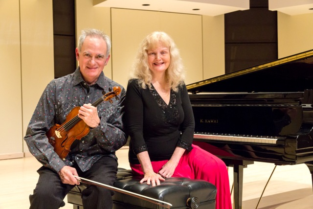 violinist, Jacques Israelievitch and pianist, Christina Petrowska Quilico