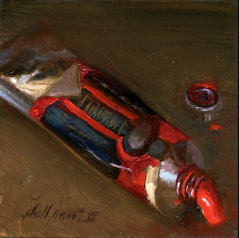 Cadmium Red in Oil on panel by Hall Groat II