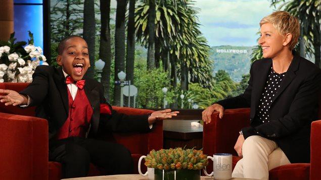 pianist, Daniel Clarke Bouchard and Ellen DeGeneres