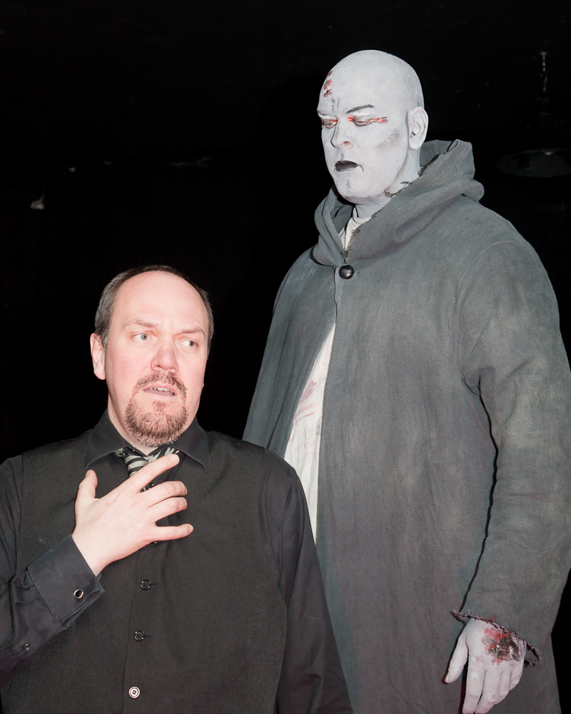 The World Premiere of Andrew Ager's Frankenstein with TrypTych Concert and Opera, January 2010. Lenard Whiting as Victor Frankenstein and Stephen King as the Monster.