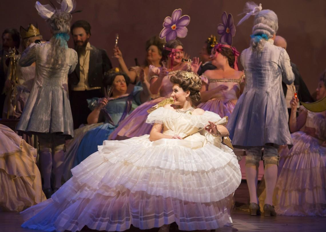 Marina Rebeka as Violetta. Photo from La Traviata (Lyric Opera of Chicago, 2013) by Todd Rosenberg