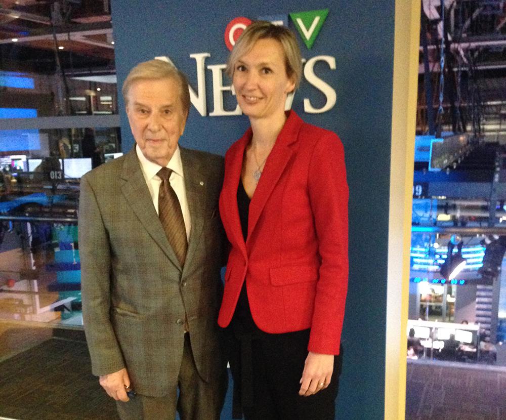 CTV's Lloyd Robertson with Ingrid Taheri