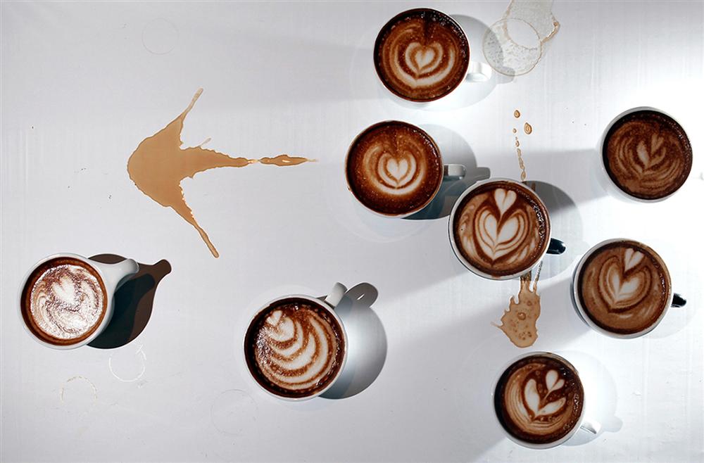 Photo: Latte Art by Yeung Yiu-fai. Carlo Allegri/Reuters