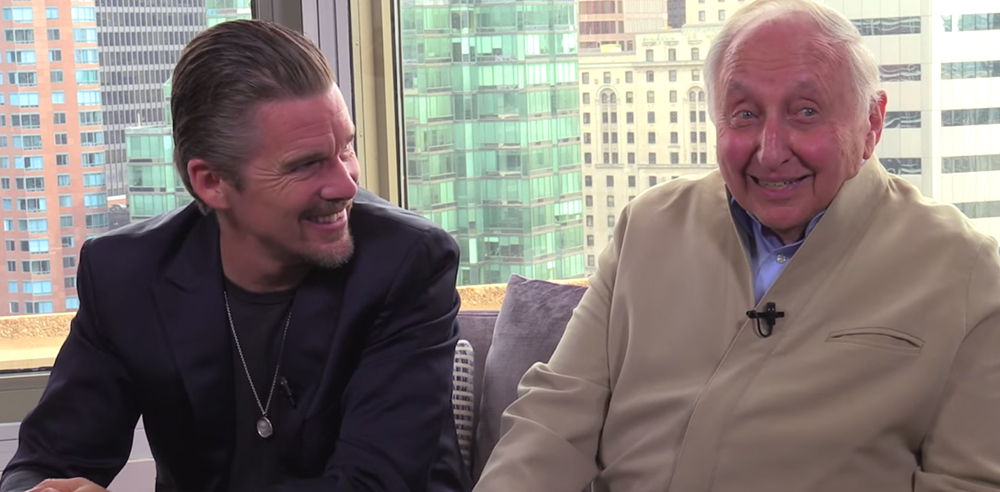 (L) Actor, writer, and director, Ethan Hawke (R) Pianist, and teacher Seymour Bernstein