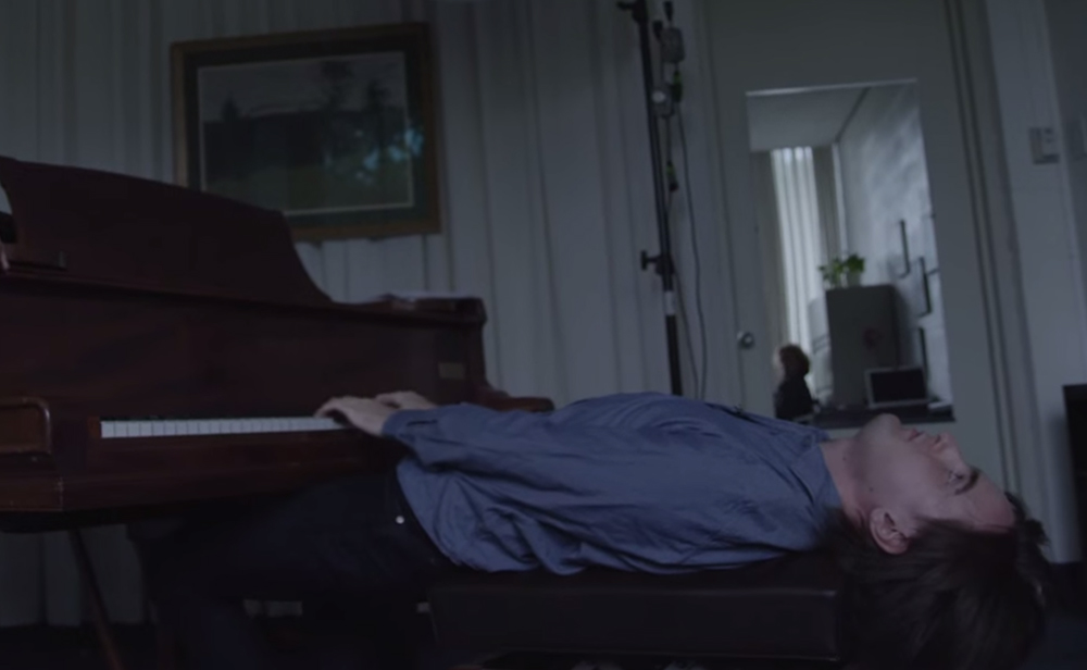 Russian pianist Daniil Trifonov demonstrates a practice technique of playing while lying down.