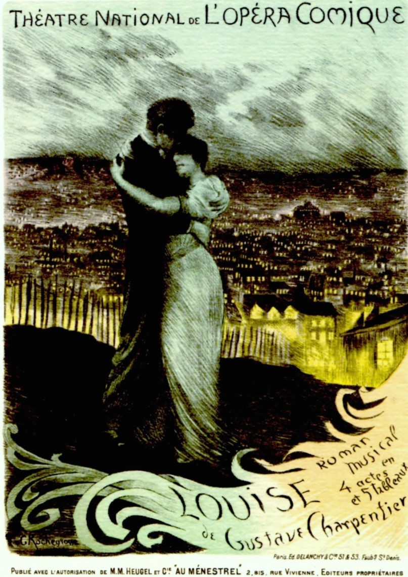 The poster for the premiere of Charpentier's Louise in Paris