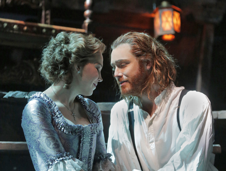 Susannah Biller as Costanza and Tim Mead as Richard the Lionheart in Opera Theatre of Saint Louis's 2015 production of Richard the Lionheart (Photo: Ken Howard)