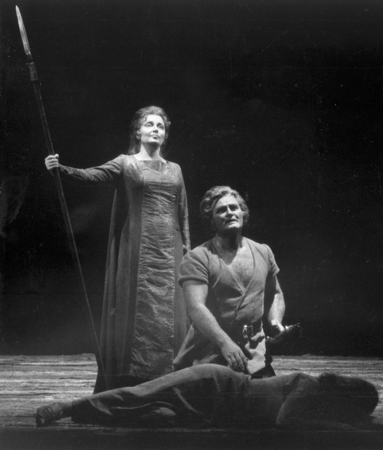 "Roberta Knie, as Brunnhilde and Jon Vickers, as Siegmund, are seen in the San Francisco Opera's production of ""Die Walkure"" (The Valkyrie) in San Francisco."