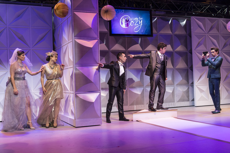 "Against The Grain Theatre demolishes the fourth wall with new reality TV show opera, ""A Little Too Cozy"" Photo: Don Lee, The Banff Centre"