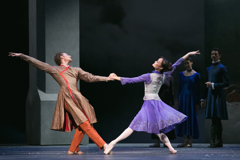 Skylar Campbell and Rui Huang in The Winter's Tale. Photo by Karolina Kuras (courtesy of The National Ballet of Canada)