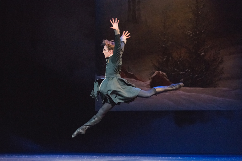 Evan McKie in The Winter's Tale. Photo by Karolina Kuras (courtesy of The National Ballet of Canada)